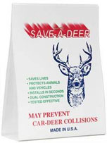 Save-A-Deer Package - Our deer whistle is an animal alert, deer warning device that aids in accident prevention with animals. We are located in Pine, Colorado.